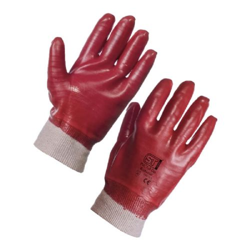 Supertouch PVC Dip Knit Wrist - Full Dip Gloves - 120 Pairs
